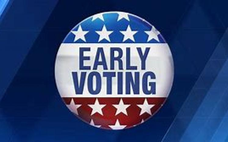 early voting button