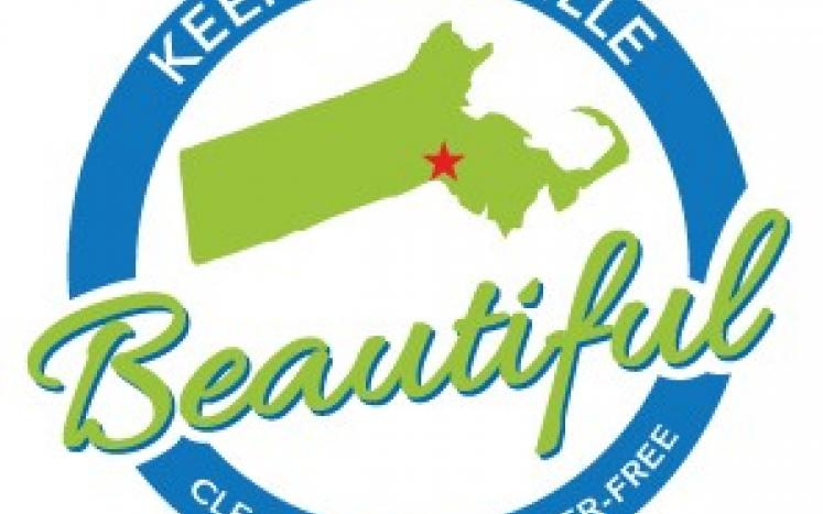 map of Plainville with Keep Plainville Beautiful in circle around it